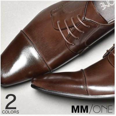 SVEC ビジネスシューズ メンズ レースアップシューズ フェイクレザー ロングノーズ ドレスシューズ 合成皮革 MM/ONE エムエムワンブラック 黒 ダークブラウン茶色 フォーマル 結婚式 スーツ 紳士靴 靴 メンズ MPT125-12 ブラック 27.0cm~ メンズ