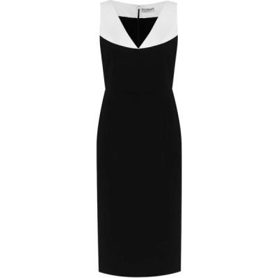 ジバンシー Givenchy レディース パーティードレス ミドル丈 ワンピース・ドレス colorblocked cady midi dress Black