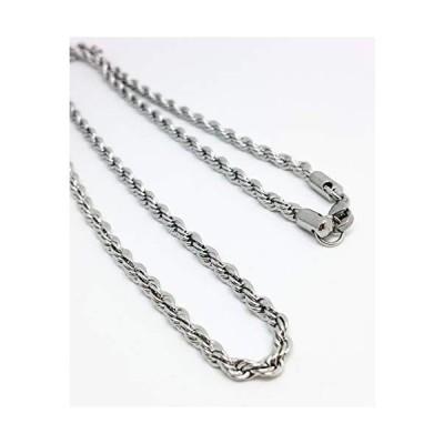 フレンチロープ ネックレス チェーン 4mm 幅 ロープチェーン 錆びない ステンレス製