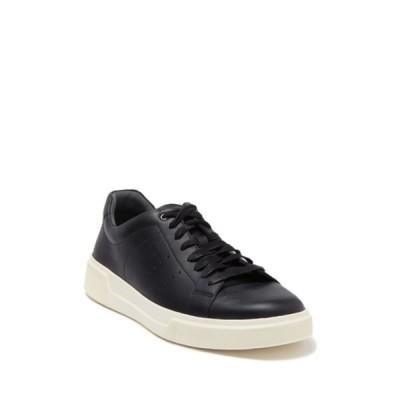 ヴィンス メンズ スニーカー シューズ Brady Lace-Up Leather Sneaker BLACKIVORY