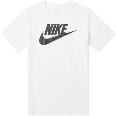 ナイキ Nike メンズ Tシャツ ロゴTシャツ トップス Futura Logo Tee White/Black