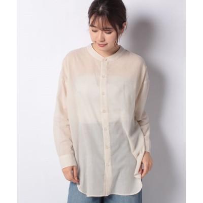 【テチチ】 TCボイルノーカラーシャツ レディース キナリ F Te chichi