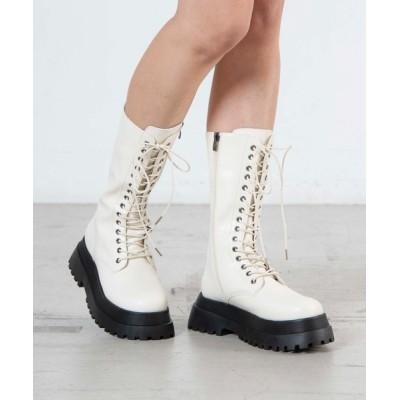 WEGO / WEGO/レースアップミドル厚底ブーツ WOMEN シューズ > ブーツ