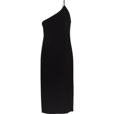 アクネ ストゥディオズ Acne Studios レディース ワンピース ミドル丈 ワンピース・ドレス one-shoulder crepe midi dress Black