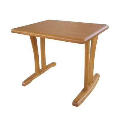 筑波産商 CCM3 ダイニングテーブル 丸面型 2本脚/90X75 ライトブラウン ライトブラウン/W90xD75
