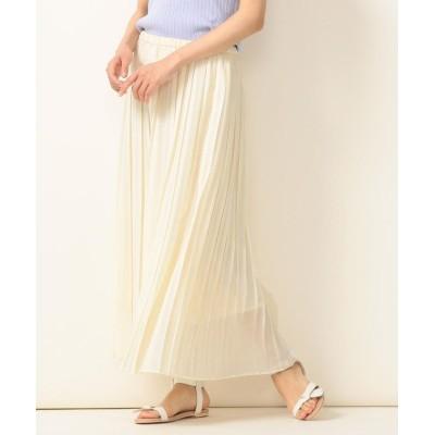 (SHIPS any WOMENS/シップス エニィ ウィメンズ)SHIPS any:ソリッドプリーツスカート/レディース オフホワイト