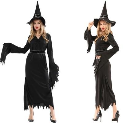 ハロウィン コスプレ衣装 魔女 巫女 衣装 仮装 レディース ハロウィン コスチューム