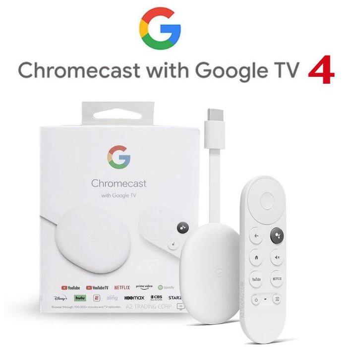 Google Chromecast with Google TV【eYeCam】第四代 4K 媒體串流播放器 電視棒