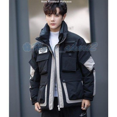 ダウンジャケット メンズ ダウンコート カジュアル 暖かい フード付き 帽子付き アウター 大きいサイズ 紳士 防寒 2019 冬