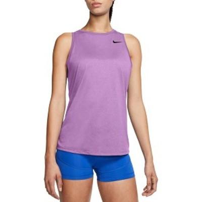 ナイキ レディース シャツ トップス Nike Women's Dri-FIT Legend Fashion Heather Training Tank Top Violet Shock