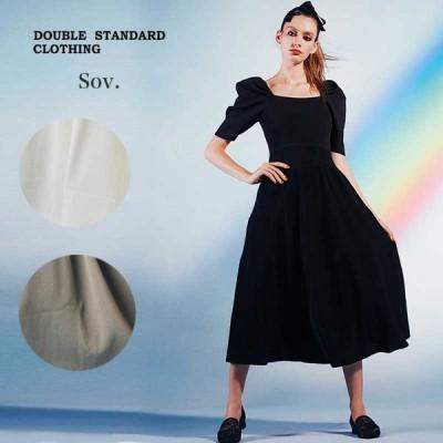 DOUBLE STANDARD CLOTHING ダブルスタンダードクロージング 通販 Sov. / R/N ダル糸リブワンピース 0301-331-211 ダブスタ 2021春夏