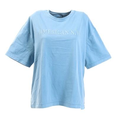 エルケクスウェアTシャツ 半袖 G/DYE WIDE EM 882EK0UK3233BLUブルー
