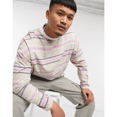 エイソス ASOS DESIGN メンズ 長袖Tシャツ トップス oversized long sleeve organic cotton t-shirt