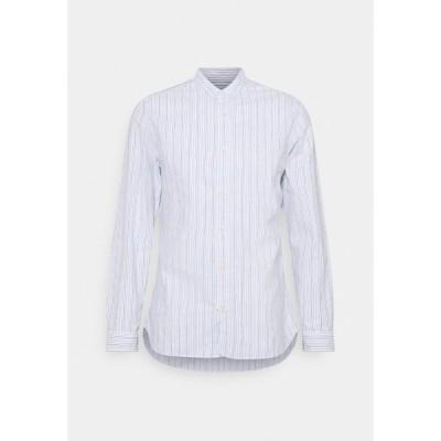 セレクテッドオム シャツ メンズ トップス SLHSLIMMILTON STRIPES - Formal shirt - dark blue
