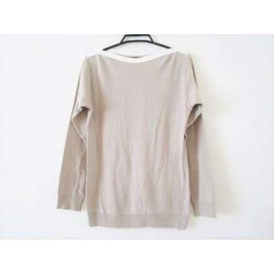 アニエスベー agnes b 長袖セーター サイズ1 S レディース ベージュ×アイボリー【中古】20200303