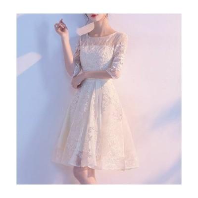 期間限定SALE パーティードレス レース ワンピース 結婚式 服装 40代 女性 ドレス レディース ファッション 30代 50代 20代 お呼ばれ