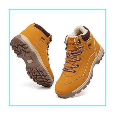 【新品】Ezkrwxn Insulated Winter Boots for Men Warm Snow Shoes with Fur Outdoor Waterproof Trekking Ankle Boot Cold Weather Light Brown