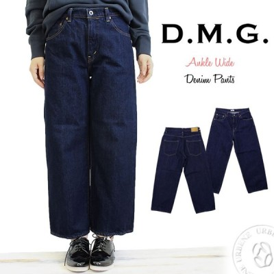 DMG ドミンゴ dmg アンクルワイドデニムパンツ ルーズアンクルパンツ ジーンズ ストレート ワイドパンツ ディーエムジー おしゃれ