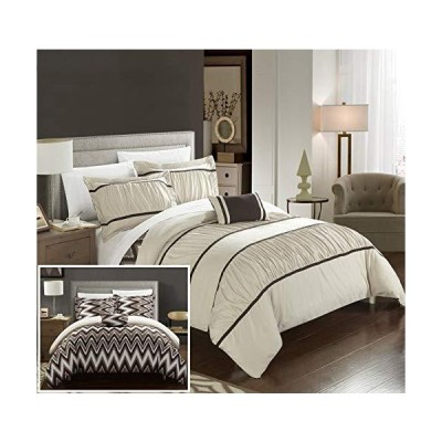 Chic Home Bella Bedding Set, Full/Queen, Beige