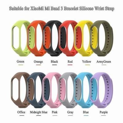 再利用可能なカラフルな シリコン リスト ストラップ ブレスレット 交換miband 3 xiaomi miバンド 3 シャオマイル 3 リ