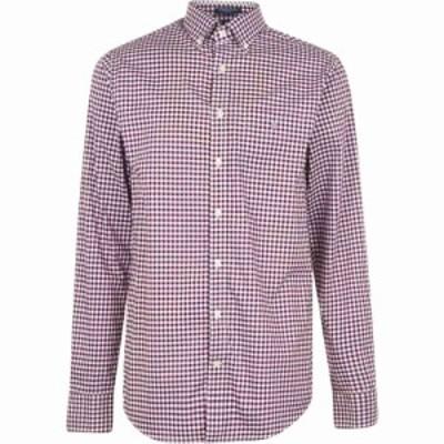 ガント Gant メンズ シャツ トップス Broadcloth Gingham Shirt Blue