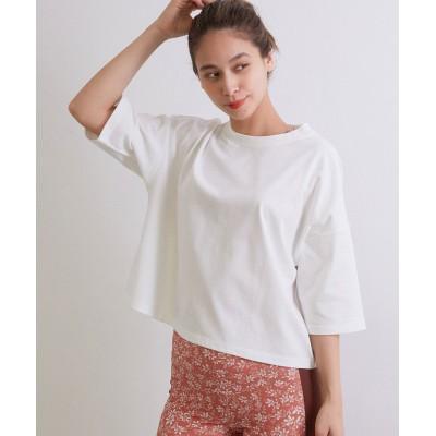 ナージー/UV&接触冷感 プレーティング天竺ボックスTシャツ/ホワイト/F