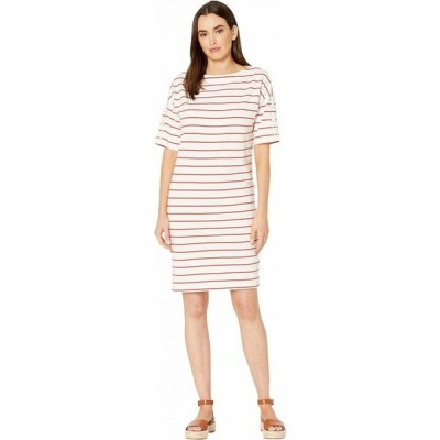 ラルフ ローレン LAUREN Ralph Lauren レディース ワンピース ワンピース・ドレス Striped Jersey Boat Neck Dress Mascarpone Cream/Canyon Red