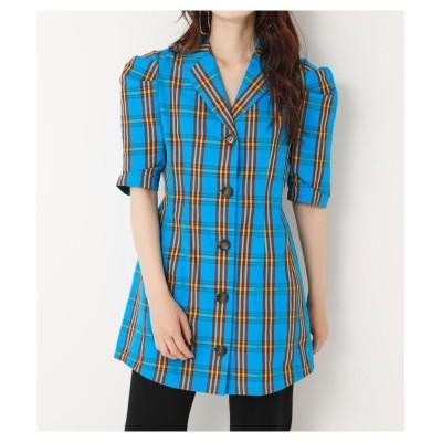 【スライ】 ALAND CHECK SH DRESS レディース M/BLU7 1 SLY