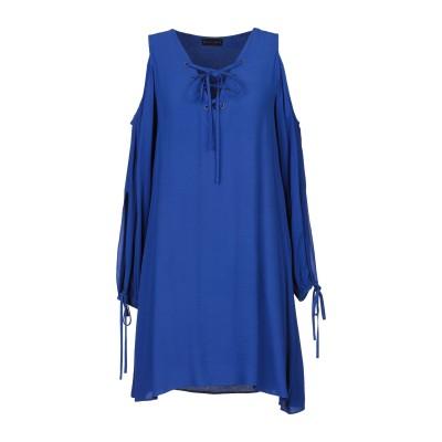 HALE BOB ミニワンピース&ドレス ブライトブルー S レーヨン 100% ミニワンピース&ドレス