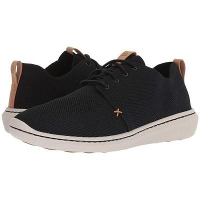 クラークス Step Urban Mix メンズ スニーカー 靴 シューズ Black Textile Knit
