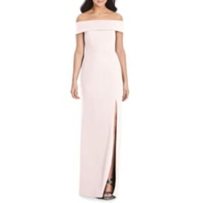 ドレッシーコレクション ワンピース トップス レディース Off the Shoulder Crepe Column Gown Blush