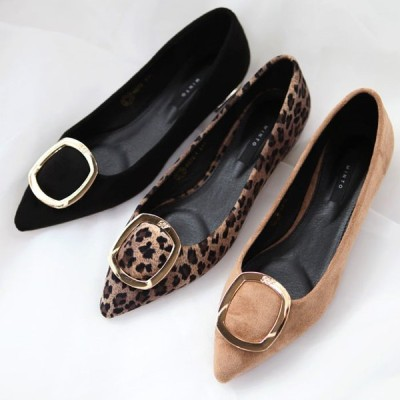 パンプス レディース レオパード ヒョウ柄 豹柄 ローヒール 太ヒール モチーフ 黒 ブラック ベージュ 婦人靴 痛くない 歩きやすい