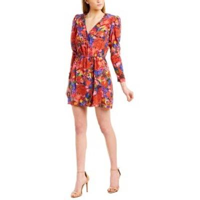 ザ・クープルス レディース ワンピース トップス The Kooples Summer Night Silk Mini Dress red multicolor