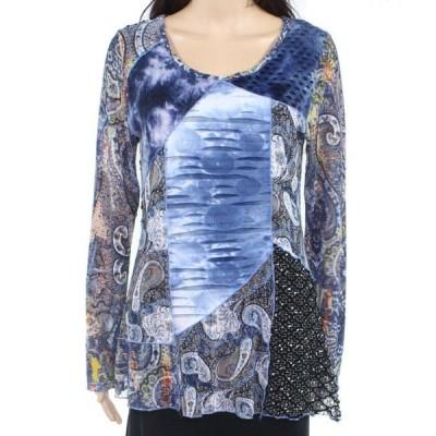 レディース 衣類 トップス Womens Blouse Small Petite Paisley Knit Print PS ブラウス&シャツ