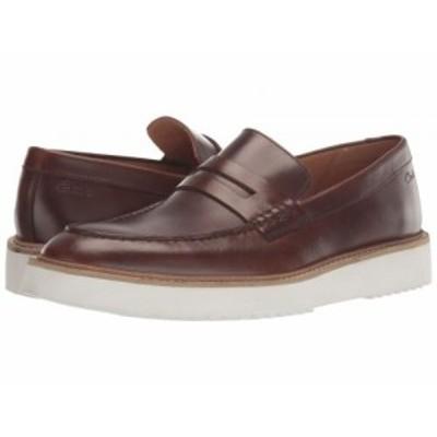 Clarks クラークス メンズ 男性用 シューズ 靴 ローファー Ernest Free Dark Tan Leather【送料無料】