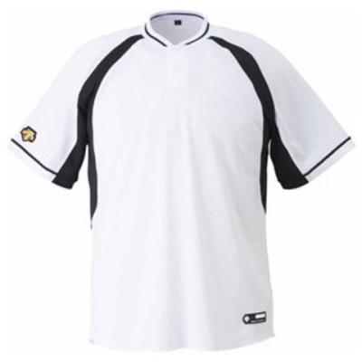 デサント ベースボールシャツ(SWBK・サイズ:M) DESCENTE 2ボタンベースボールシャツ(レギュラーシルエット) DS-DB103B-SWBK-M 【返品種別A】