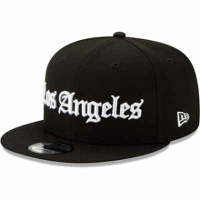 New Era ニュー エラ スポーツ用品  New Era LA Galaxy Black Gothic 9FIFTY Snapback Adjustable Hat
