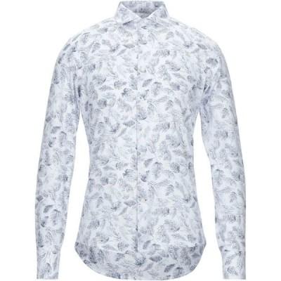 エクシビット EXIBIT メンズ シャツ トップス patterned shirt White