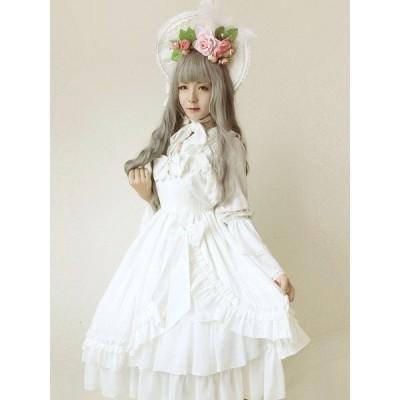 甘いロリータ ドレス JSK 人魚の涙白いジャンパー スカート