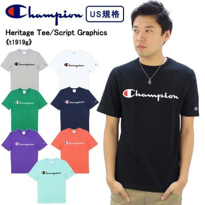 チャンピオン Champion  ヘリテージ スクリプト ロゴ Tシャツ Heritage Script Graphics Tee T1919G  メンズ 半袖 Tシャツ [AA-3]