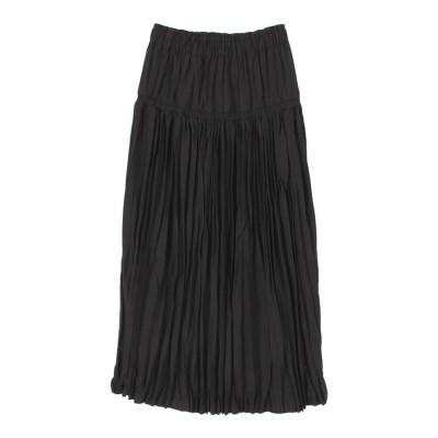 ティティベイト titivate シャーリングワッシャープリーツスカート (ブラック)