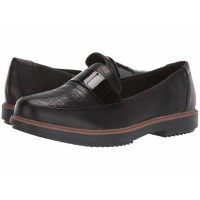 Clarks クラークス レディース 女性用 シューズ 靴 ローファー ボートシューズ Raisie Arlie Black Leather/Croco【送料無料】