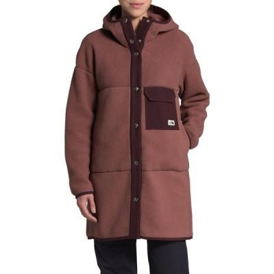 ザ ノースフェイス THE NORTH FACE レディース コート フード アウター Mashup Fleece Hooded Coat Marron Purple/Root Brown