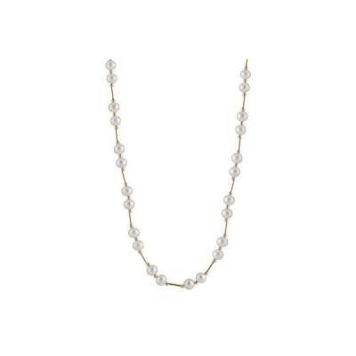 """スプレンディット Pearls ネックレス ペンダント アクセサリー パール tube ネックレス ウイズ 6-6 ミリ ホワイト 淡水パール 18"""" 14k ゴールド."""
