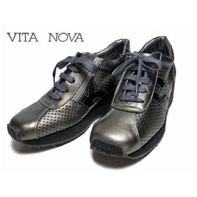 ビタノバ VITA NOVA ウェッジソール パンチングレザーレースアップシューズ エタンコンビ レディース 靴