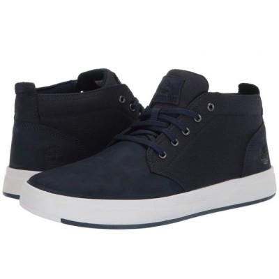 ティンバーランド Timberland メンズ ブーツ シューズ・靴 Davis Square Leather and Fabric Chukka Navy Nubuck