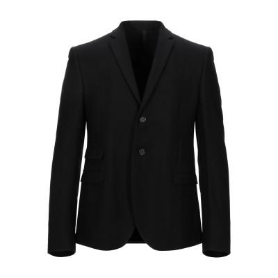 GAZZARRINI テーラードジャケット ブラック 48 バージンウール 100% テーラードジャケット
