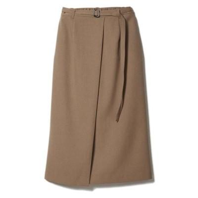 CLEAR IMPRESSION / クリアインプレッション 《洗えるセットアップ》サキソニーベルト付きスカート