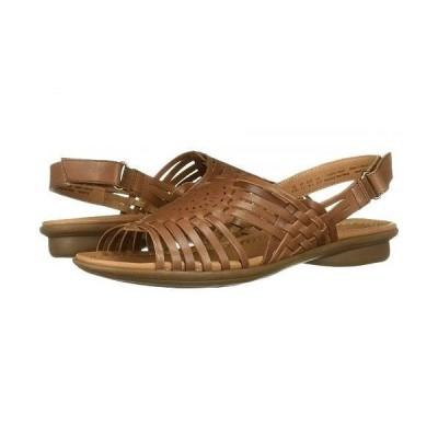 Naturalizer ナチュラライザー レディース 女性用 シューズ 靴 サンダル Whistle - Saddle Tan Leathe