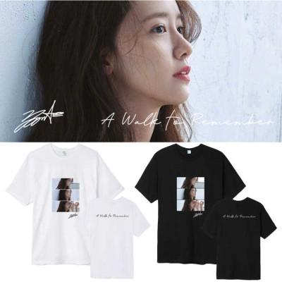 大人気! 少女時代 Yoona週辺A Walk To Remember 半袖Tシャツ 韓国ファッション tシャツ  男女兼用  トップス 韓国 応援服